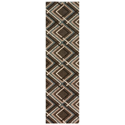 Augusta Browning Avenue Brown Area Rug Rug Size: Runner 2 x 79