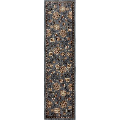 Dryden Emerson Abyss Gray Area Rug Rug Size: Runner 21 x 79