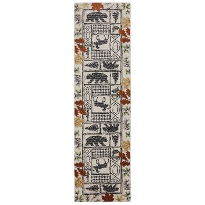 Madison Autumn Leaves Linen Area Rug Rug Size: Runner 21 x 79