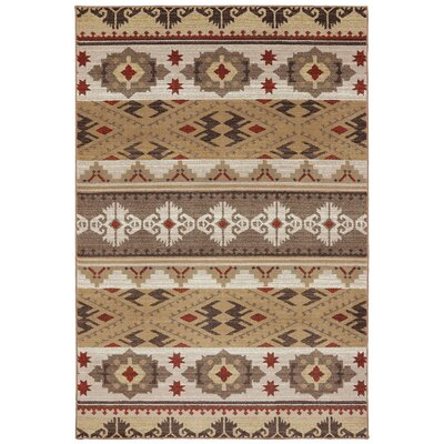 Madison Yuma Dark Butter Area Rug Rug Size: 53 x 79