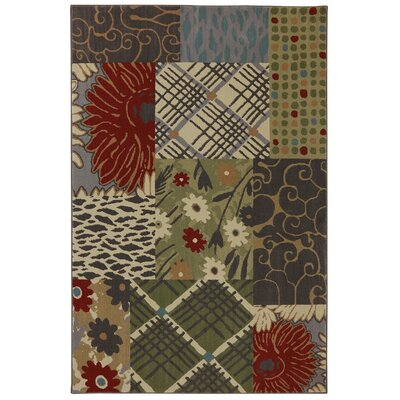 Symphony Emporia Patchwork Saddle Area Rug Rug Size: Rectangle 36 x 56