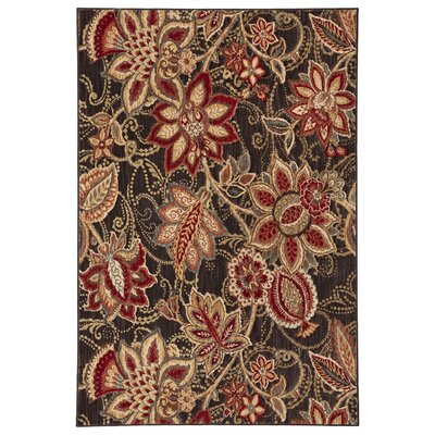 Dryden Concord Red/Taupe Area Rug Rug Size: Rectangle 36 x 56