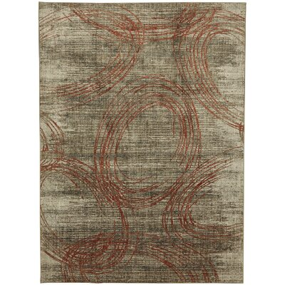 Metropolitan Amora Beige/Gray Area Rug Rug Size: Rectangle 96 x 1211