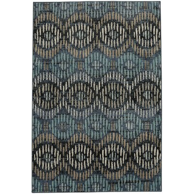 Metropolitan Apollo Blue/Black Area Rug Rug Size: Rectangle 96 x 1211