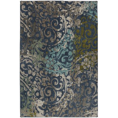 Metropolitan Renee Blue Area Rug Rug Size: Rectangle 53 x 710