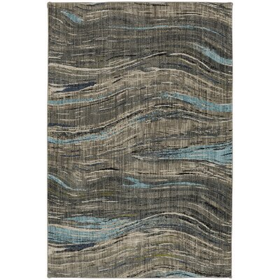 Muse Gunmetal Gray Area Rug Rug Size: Rectangle 53 x 710