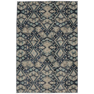 Metropolitan Blue/Beige Area Rug Rug Size: Rectangle 53 x 710