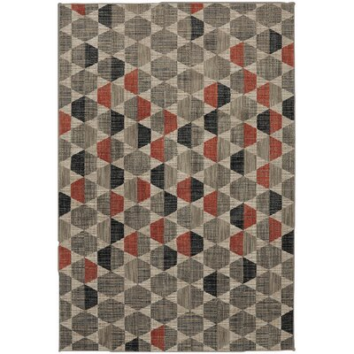 Metropolitan Gray/Black Area Rug Rug Size: Rectangle 8 x 11