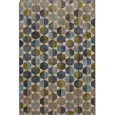 Metropolitan Gray/Blue Area Rug Rug Size: Rectangle 96 x 1211