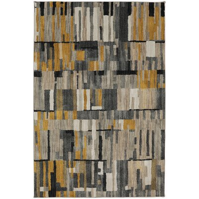 Muse Mustard Yellow Area Rug Rug Size: 53 x 710