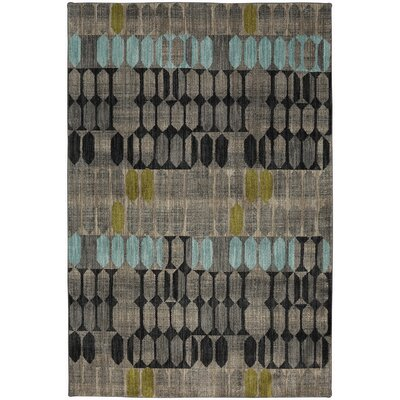 Metropolitan Gray/Black Area Rug Rug Size: Rectangle 96 x 1211