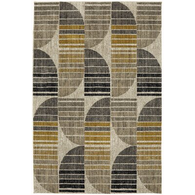 Metropolitan Gray/Yellow Area Rug Rug Size: Rectangle 53 x 710