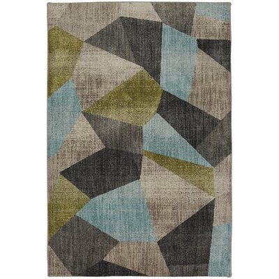 Metropolitan Gray/Blue/Green Area Rug Rug Size: Rectangle 96 x 1211