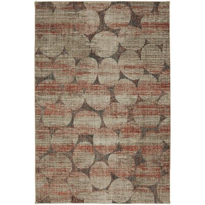 Metropolitan Red/Gray Area Rug Rug Size: Rectangle 53 x 710