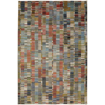 Metropolitan Blue/Red Area Rug Rug Size: Rectangle 8 x 11