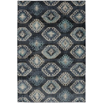 Metropolitan Blue/Beige Area Rug Rug Size: Rectangle 96 x 1211