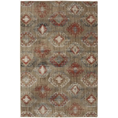 Metropolitan Beige/Red Area Rug Rug Size: Rectangle 96 x 1211