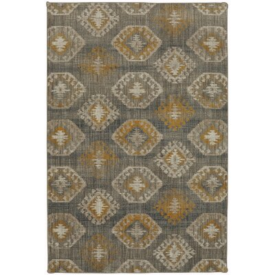 Metropolitan Gray/Gold Area Rug Rug Size: Rectangle 53 x 710