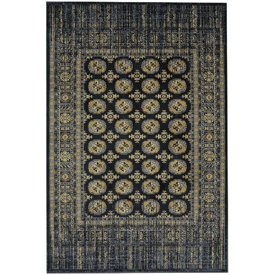 Providence Merrimack Black Area Rug Rug Size: Rectangle 96 x 1211