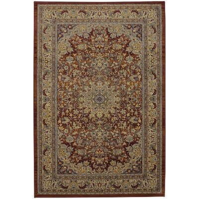 Providence Taupe/Red Area Rug Rug Size: Rectangle 8 x 11