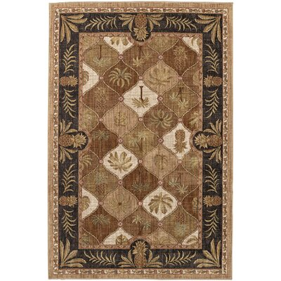 Destinations Boca Palms Citron Area Rug Rug Size: 8 x 11