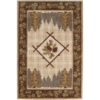 Destinations Kobuk Gold/Cream Area Rug Rug Size: Rectangle 53 x 710