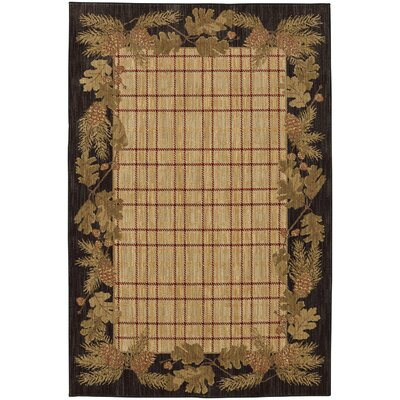 Destinations Pine Cone Plaid Ashen Area Rug Rug Size: Rectangle 53 x 710