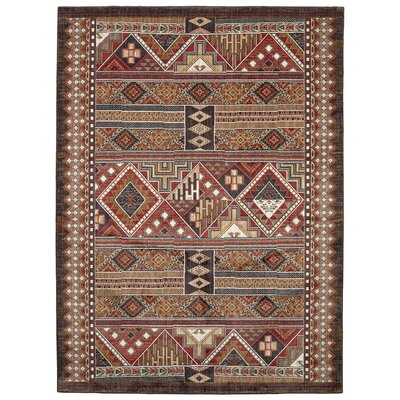Destinations Sundance Garnet/Brown Area Rug Rug Size: 53 x 710