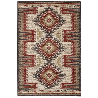 Destinations Hulett Gold/Cream Area Rug Rug Size: Rectangle 53 x 710