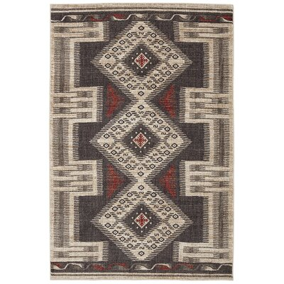 Destinations Hulett Charcoal Area Rug Rug Size: 8 x 11