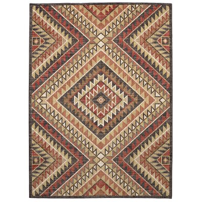 Destinations South Pass Charcoal/Gold Area Rug Rug Size: 96 x 1211