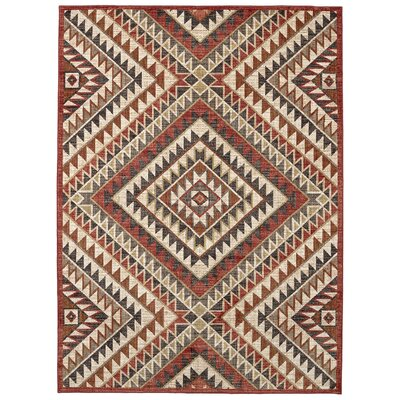 Destinations South Pass Brown/Gold Area Rug Rug Size: Rectangle 96 x 1211