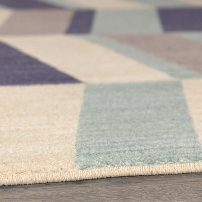Paulette Aqua Area Rug Rug Size: Rectangle 53 x 710