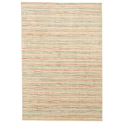 Paulette Colored Lines Beige Area Rug Rug Size: Rectangle 35 x 52