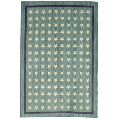 Paulette Nursery Stars Blue Area Rug Rug Size: Rectangle 35 x 52