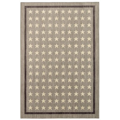 Paulette Nursery Stars Gray Area Rug Rug Size: Rectangle 53 x 710