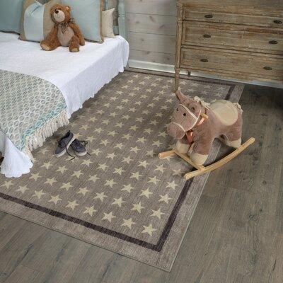 Paulette Nursery Stars Gray Area Rug Rug Size: 53 x 710