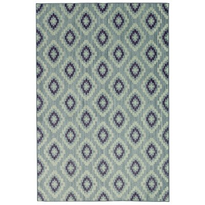 Paulette Blue Area Rug Rug Size: Rectangle 8 x 10