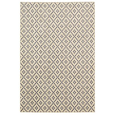 Paulette Simple Lattice Indigo Area Rug Rug Size: Rectangle 35 x 52