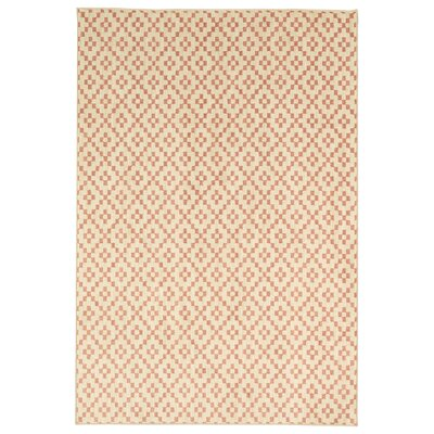 Elijah Simple Lattice Coral Area Rug Rug Size: Rectangle 35 x 52