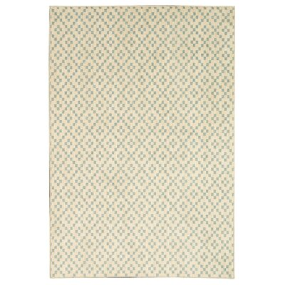 Paulette Simple Lattice Aqua/Beige Area Rug Rug Size: Rectangle 35 x 52