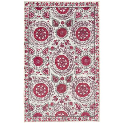 Lagouira Suzani Pink/Cream Area Rug Rug Size: Rectangle 76 x 10