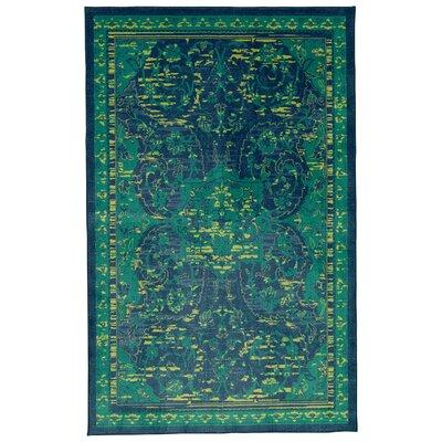 Damarion Blue Area Rug Rug Size: 5 x 8