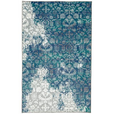 Asherman Aqua/Blue Area Rug Rug Size: Rectangle 5 x 8