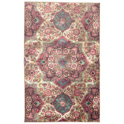 Asherman Purple/Pink/Cream Area Rug Rug Size: Rectangle 5 x 8