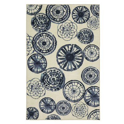 Asherman Medallion Blue Area Rug Rug Size: Rectangle 76 x 10