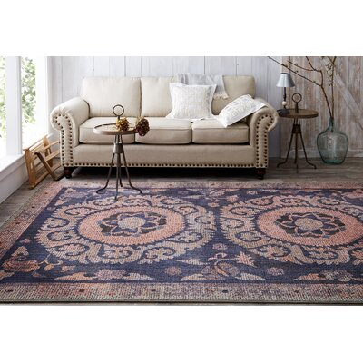Suzani Tapestry Indigo Area Rug Rug Size: Rectangle 53 x 710