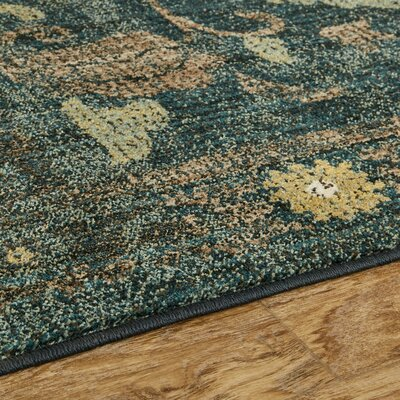 Suzani Tapertry Sapphire Area Rug Rug Size: Rectangle 5'3