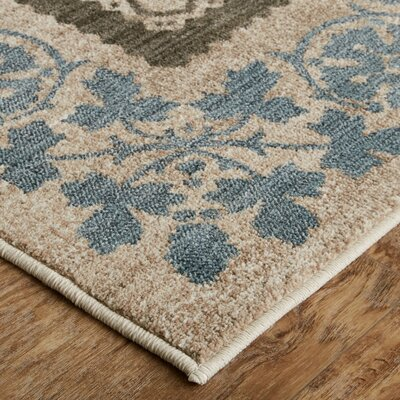 Floret Oyester Area Rug Rug Size: Rectangle 8 x 10