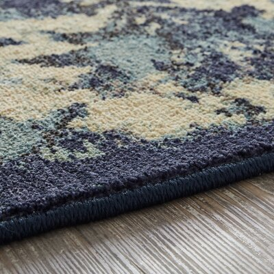 Luminous Indigo Area Rug Rug Size: Rectangle 53 x 710